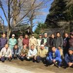 寺を訪れた方々に方に喜んでいただこうと、彼岸花に続いて8種類の桜苗木を植えました。