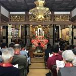 天気にも恵まれ100名ほどの参詣者がありました。市川市から訪れた道誠寺住職がメールに添付し送ってくれました。